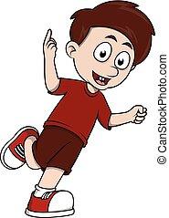 Boy Happy running casual