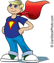 Boy Hero  - A boy pretends to be a super hero