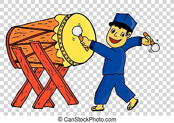 Boy - Hit Bedug (Traditional Indonesia Musical Instrument)