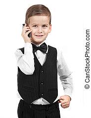 Boy holding a cellphone