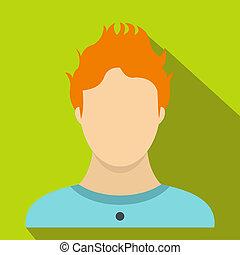 Boy icon, flat style