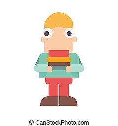 Boy icon on a white background. Vector illustration