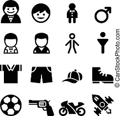 Boy icon set
