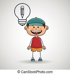 boy idea gears icon