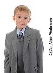 Boy in a business suit