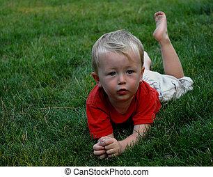 boy in a field