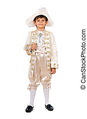 Boy in a historical costume