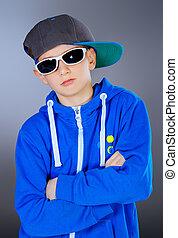boy in a sports suit