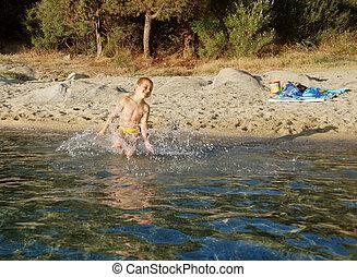 boy in a water