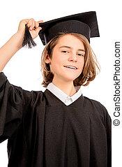 boy in academic hat