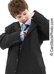 Boy in Baggy Suit