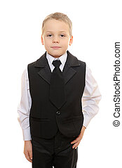 boy in black suit