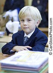 Boy in classroom - primary school