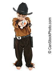 Boy in Cowboy Sheriff Costume - Adorable 4 year old boy in...