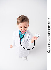 Boy in doctor costume