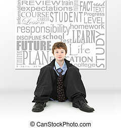 Boy in Education Concept Image - Attractive ten year old...