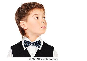 boy in festive suit