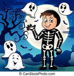 Boy in Halloween costume theme image 3