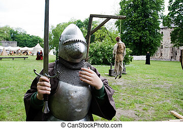 Boy in knight armour