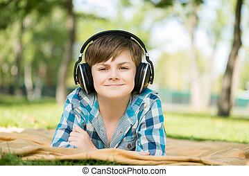 Boy in park