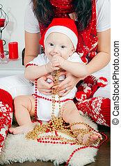 Boy In Santa's Cap
