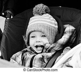 boy  in  stroller