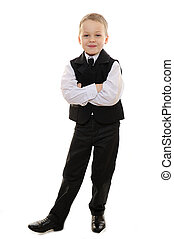boy in suit smile