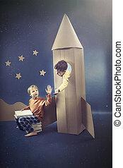 Boy in the rocket