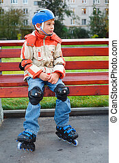 Boy in the rollerblade