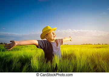 Boy in the wheat