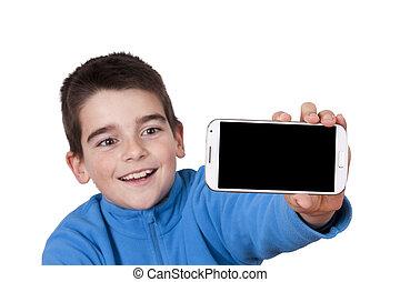 boy isolated on white background