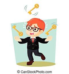 boy juggling key