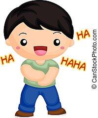Boy laugh out loud