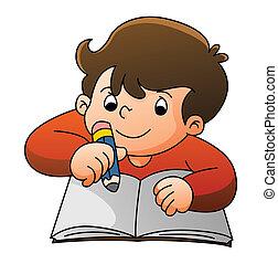 Boy Learning