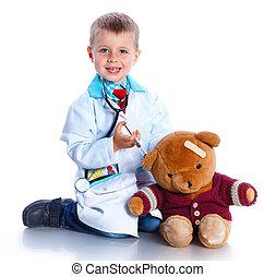Boy little doctor