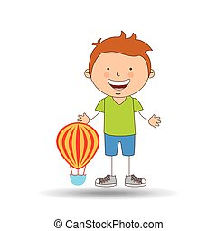boy lovely smiling airballoon graphic