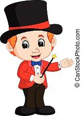 Boy Magician cartoon