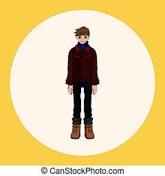 boy man cartoon theme elements