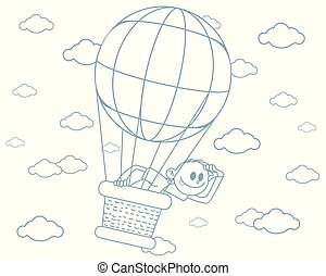 Boy on a big balloon