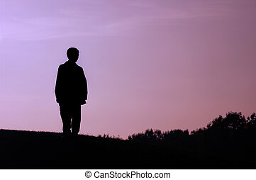 Boy on a Hill