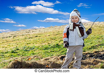 boy on a meadow