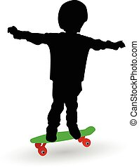boy on a skate board