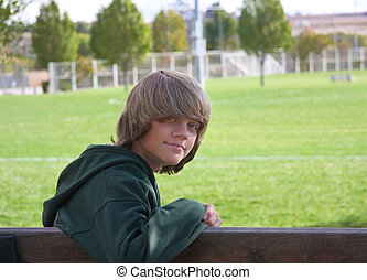Boy on Bench