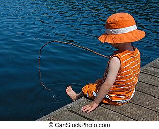Boy on dock