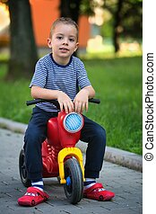 Boy on scooter