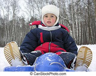 boy on sled