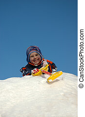 Boy on snow