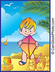 Boy on the beach.
