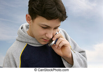 Boy on the phone