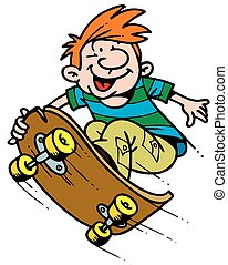 boy on the skateboard